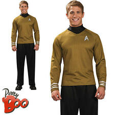 Mens Captain Kirk S Fancy Dress Adults Star Trek Sci Fi Movie Uniform Costume