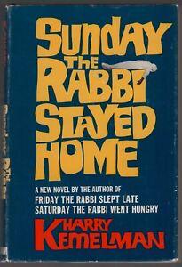 Harry Kemelman: Sunday the Rabbi Stayed Home SIGNED