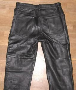 lange-Herren-Schnuer-LEDERJEANS-Biker-Lederhose-in-schwarz-ca-W31-034-L36-034