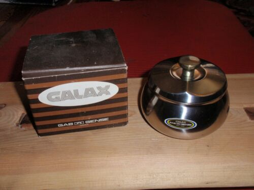 VINTAGE GALAX GENSE LIDDED CONTAINER SWEDEN TRINKET BOX STAINLESS STEEL NEW