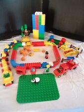 GROS LOT LEGO DUPLO ZOO / TRAIN / CIRQUE BRIQUES VRAC LION TIGRE KG PLAQUE