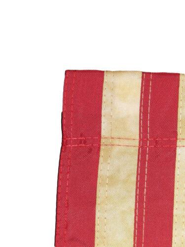 12x18 Bestickt USA Amerikanischer Tee Fleck 210d Nylon Hülsen Garten Flagge