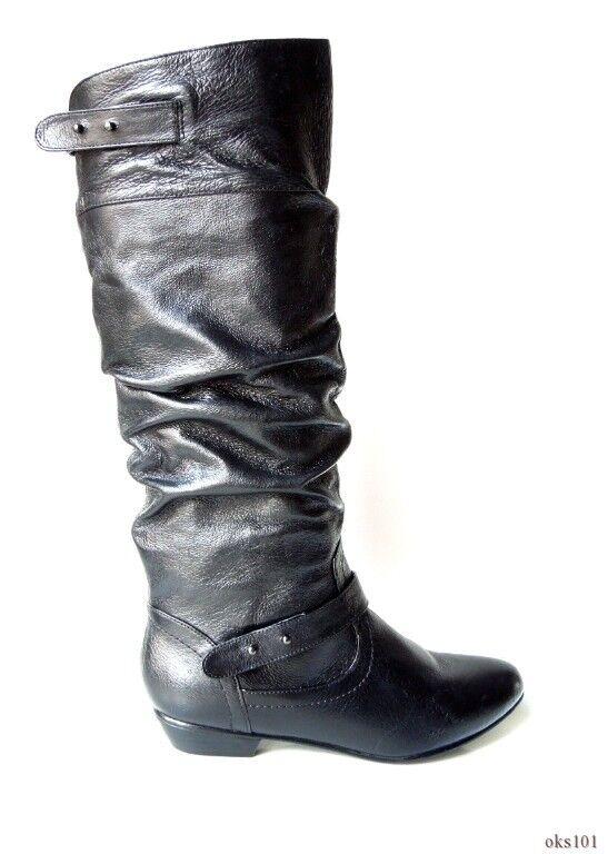 a8172881cc75 New STEVE STEVE STEVE MADDEN  Kikii  nero leather TALL FLAT stivali 6 -  very comfortable 5170c4