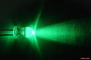 100pcs 5mm Green Flash Self Flashing Blink Water Clear Bright LED Leds Light