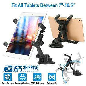 """360° car windshield mount holder for 7-11/"""" iPad Mini//2//3//4//Air iPhone tablet LL"""