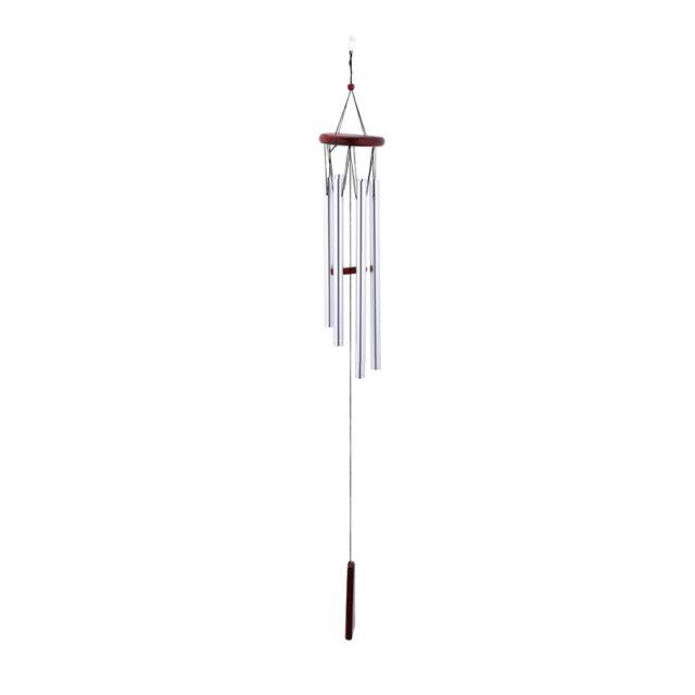 Wooden Metal Tube Fengshui Wind Chimes Bell Hanging Window Balcony Decor Trendy