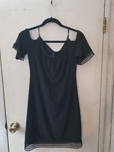 da8ac174a46ea White House Black Market Black Off Shoulder Dress with Lace Trim ...