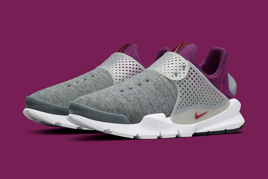 Nike Sock Dart Tech Fleece Grey Heather Mulberry Nikelab 834669-006