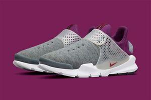 b26b199d0453 Nike Sock Dart Tech Fleece Grey Heather Mulberry Nikelab 834669-006 ...