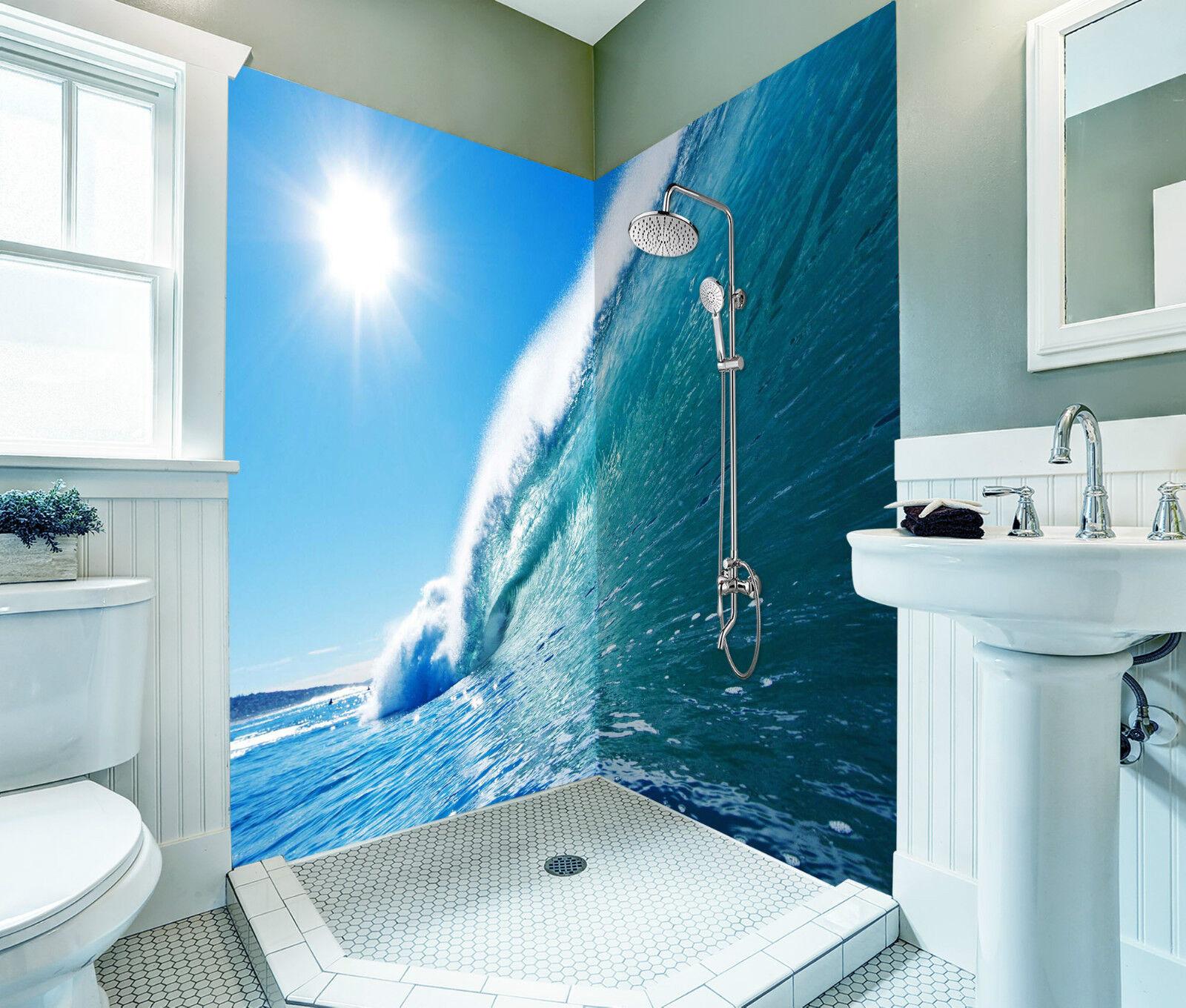 3D Sea Huge Wave 089 WallPaper Bathroom Print Decal Wall Deco AJ WALLPAPER CA