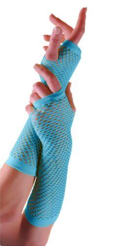 Femmes long résille gants mitaines néon gants résille parti gants