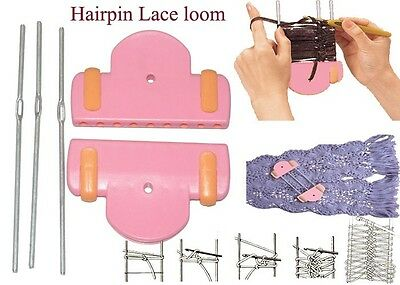 Hairpin Lace Tool Knitting Loom Crochet Braid Flower Adjustable Craft Maker