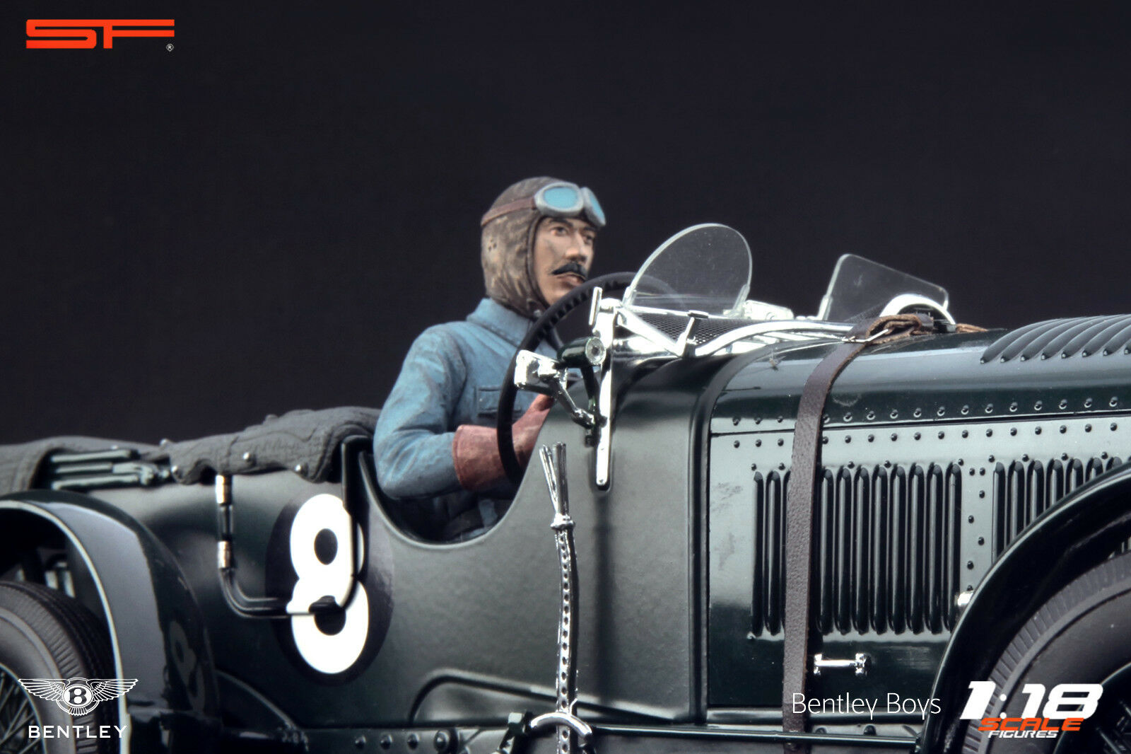 1 18 Tim Birkin racing driver driver driver figurine    NO CAR    for 1 18 Bentley Minichamps 30b003