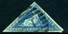 CAPE OF GOOD HOPE-1855-63 4d Blue 3 margin example Sg 6a FINE  USED  V15163