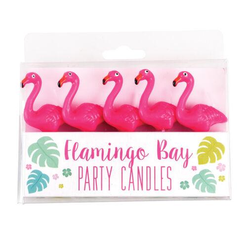 Pack de 5 REX London Flamingo Party Bougies