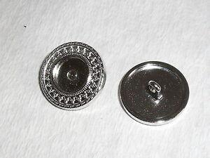 6 Stück Metallknöpfe Knopf Ösenknopf  15 mm silber NEUWARE rostfrei 0419