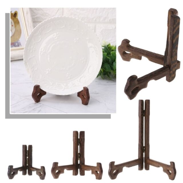 3 Inch 7 Inch Tall Wood Display Stand Holder Easels For Plates Photos Tea Tray