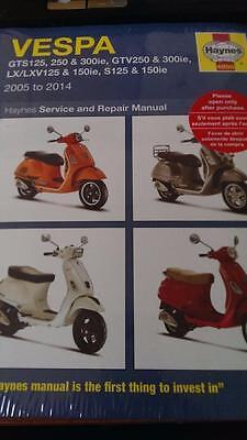 Vespa GTS 250 ie 2007 Haynes Service Repair Manual 4898