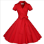 50s-60s-Retro-Hepburn-Style-V-Neck-Swing-Lapel-Rockabilly-Housewife-Pinup-Dress thumbnail 11