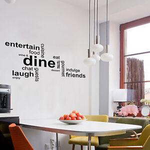 image is loading cenare parola montaggio cloud adesivo da parete cucina