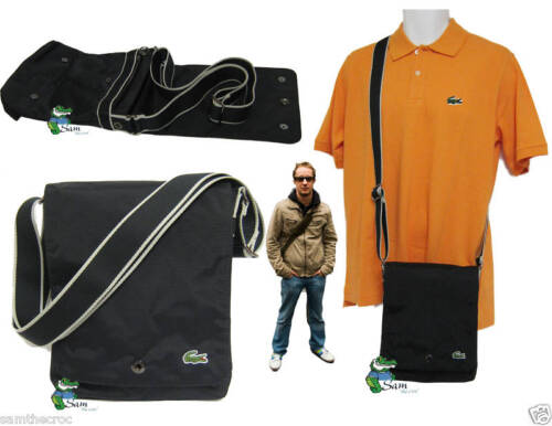 New LACOSTE Unisex MESSENGER unisex Shoulder Bag New City Casual 3 Black