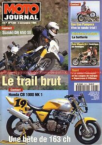 MOTO-JOURNAL-1203-SUZUKI-DR-650-SE-HONDA-CB-1000-NK1-NSR-250-500-Gas-Gas-1995