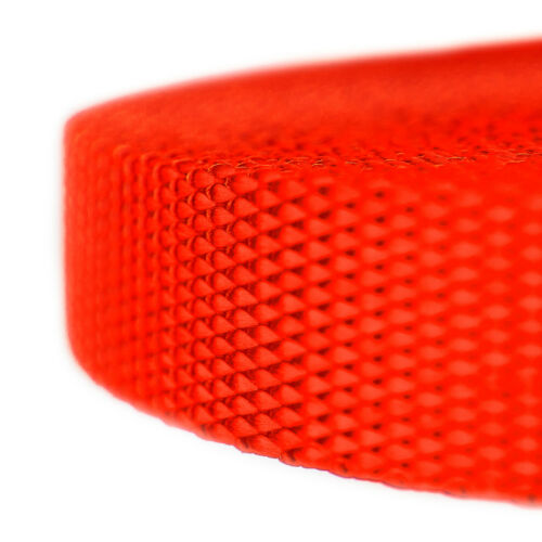 Country Brook Design® 5//8 Inch Neon Orange Heavy Nylon Webbing 50 Yards