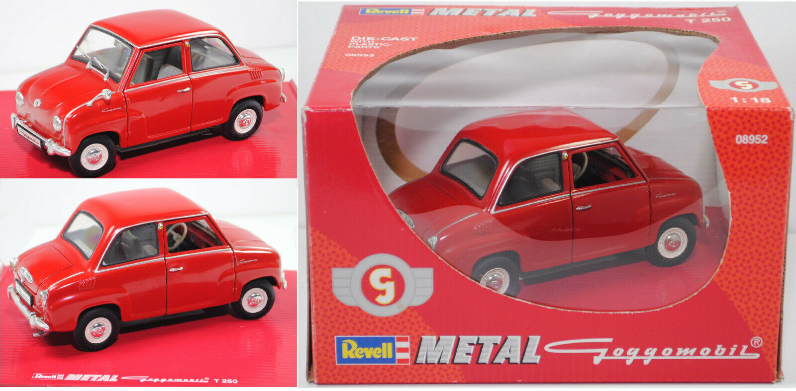 REVELL 08952 Goggomobil ® T 250, rosso, 1:87