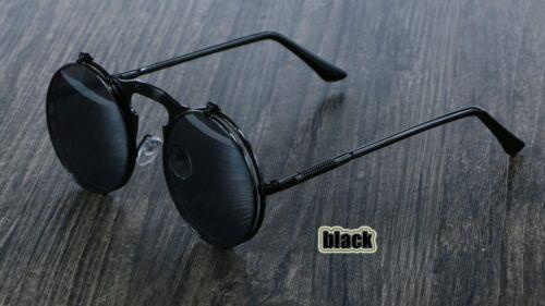 Unisex Vintage Steampunk Polarized Sunglasses Fashion Round Retro UV400 Eyewear