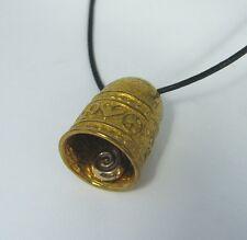 Heart Peace Sign Bell Pendant Necklace Bronze Brass USA Made Music Biker Luck
