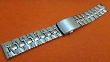 20mm Citizen eco drive fishbone gents mens watch stainless steel bracelet  STRAP