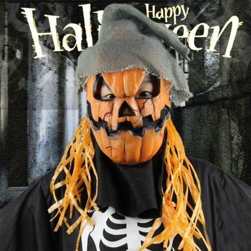 Halloween Citrouille masque effrayant le soir Latex épouvantail pour le Soir
