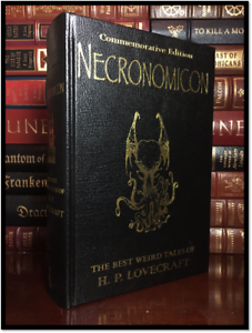 Necronomicon by H.P. Lovecraft Commemorative New Deluxe Leather Bound Hardback