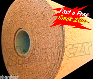 4'x1/4 CORK ROLL (BY THE FOOT) bulletin acoustic sheet baby wall board darts