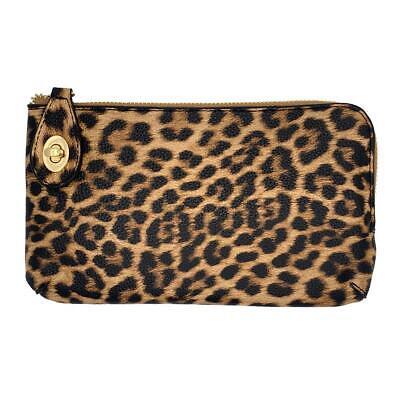 Leopard Crossbody Wallet Wristlet Cell Phone Purse Animal Print Zip Wallet