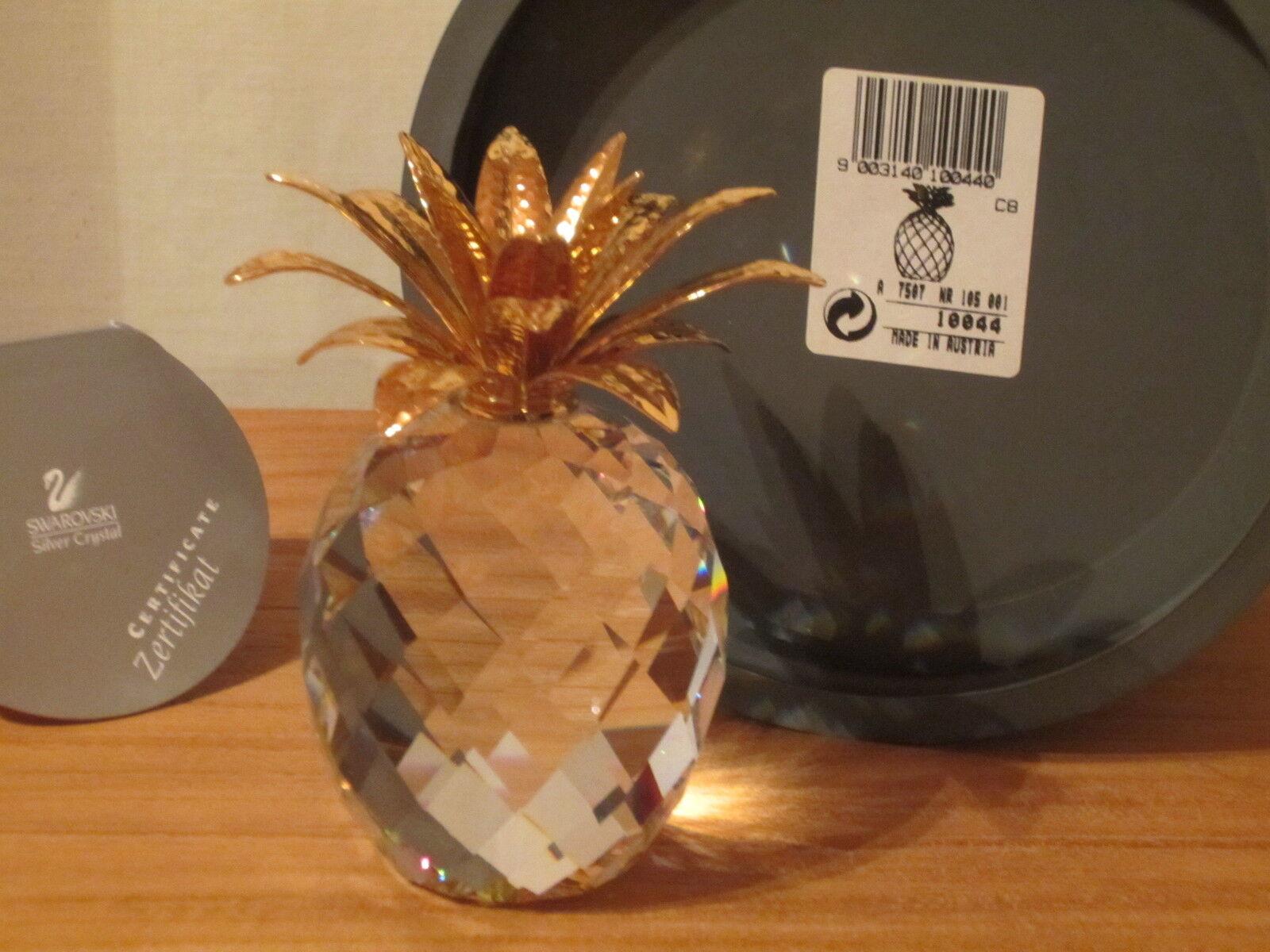 SWAROVSKI NEW Ananas doré grand Large oro Pineapple 010044 H.10,5cm