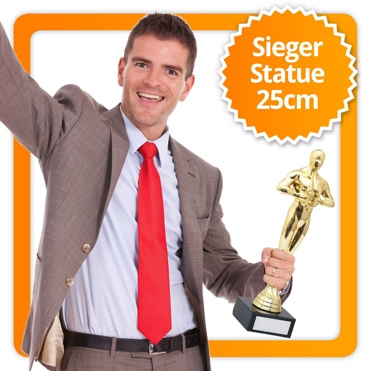 Vainqueur statue Vainqueur Vainqueur Vainqueur Coupe 25 cm gravierbarer gravierbar Vainqueur Coupe Statue 35bb5d
