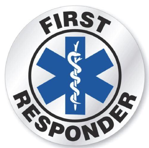 First responder Hard Hat Decal Hardhat Sticker Helmet Label H155