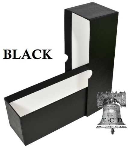 3 Coin Holder Slab Storage Box BLACK Holds 2½ x 2½ Crown Paper Flip 2.5x2.5 Case