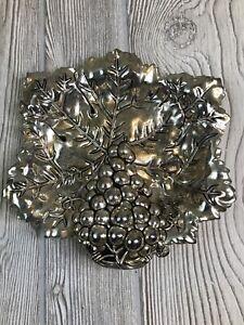 Vintage Godinger Silver Art Company Silver Plate Dish Catch All W Grape Motif Ebay