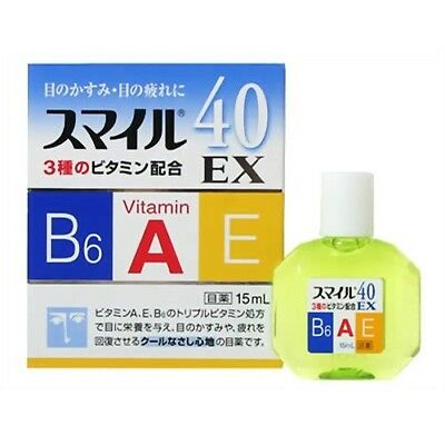 Lion Smile 40 EX Cooling Vitamin Eye Drops 15ml Made in Japan New Eyedrops 40EX