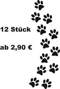 12 Hundepfoten Pfoten Hunde Aufkleber Auto Wandtattoo Ebay