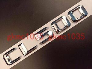 Chrome Number Letters V6 KOMPRESSOR Trunk Emblem Badge Sticker for Mercedes Benz