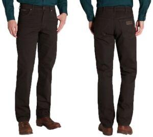 Wrangler-Herren-Jeans-Hose-Texas-Strech-Dark-Teak-Braun-W30-W33