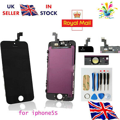LCD Touch Screen Display Digitizer Assembly Replacement for iPhone 5S Black -UK
