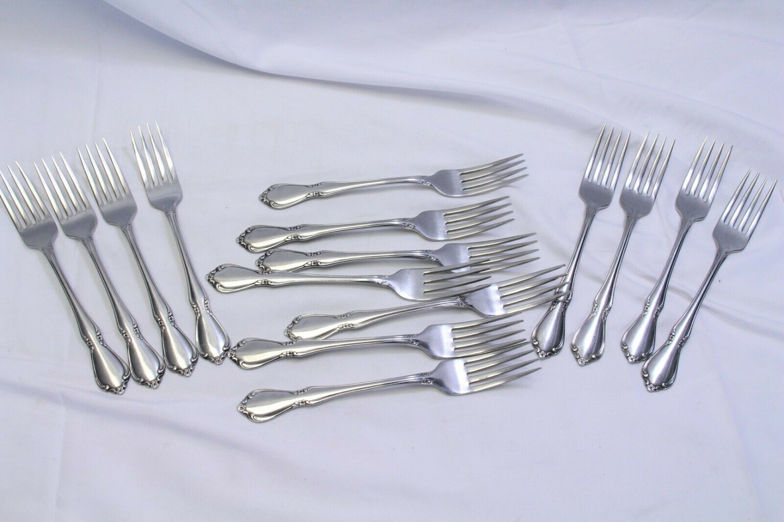 Oneidacraft Deluxe inoxydable Chateau dinner forks 7.25  Lot de 15