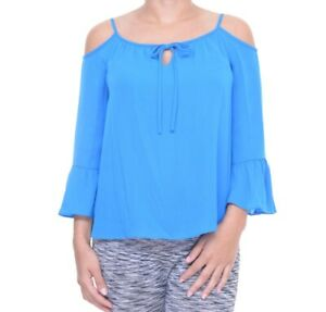 INC-International-Concepts-Women-039-s-Caribe-Blue-Top-Size-4