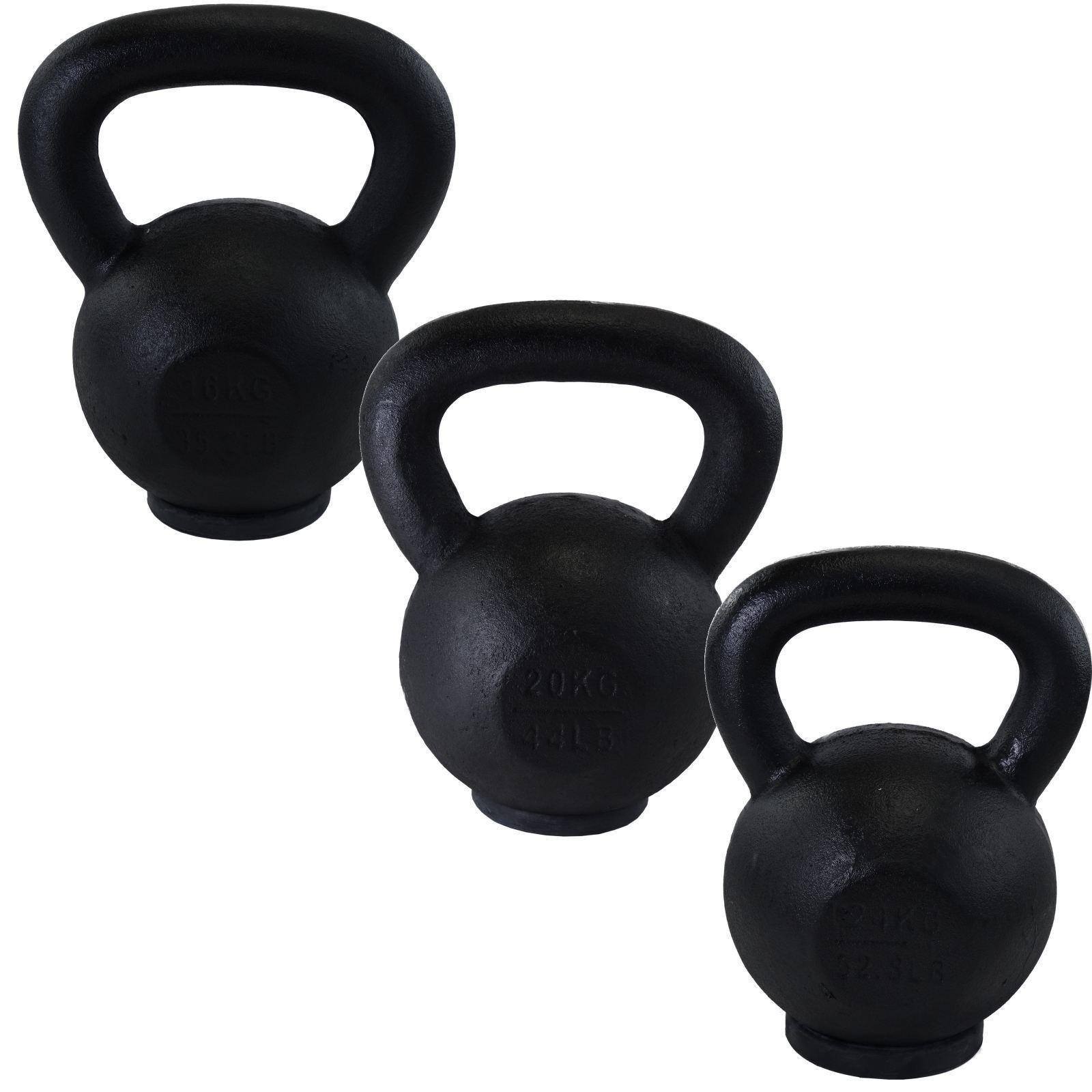 Satz Klingel von 16, 20, 24 kg Gusseisen Wasserkessel Klingel Satz Training Fitnessstudio 8a3875