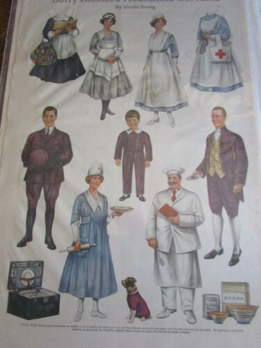 1918 Sheila Young BETTY BONNET'S Paper Doll HOUSEHOLD SERVANTS UNCUT
