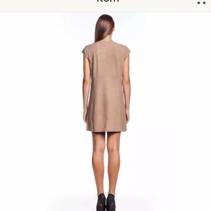 NWT Joie Aloisa Leather Dress Smokey Smokey Smokey Topaz Leopard Suede M  898 Kardashian 137ea6